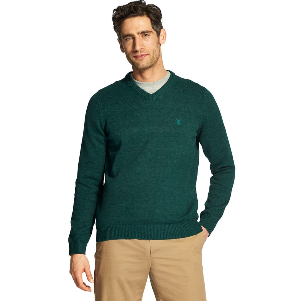 IZOD Men's Premium Essentials V-Neck Sweater - BOTANICALGARDEN-#320