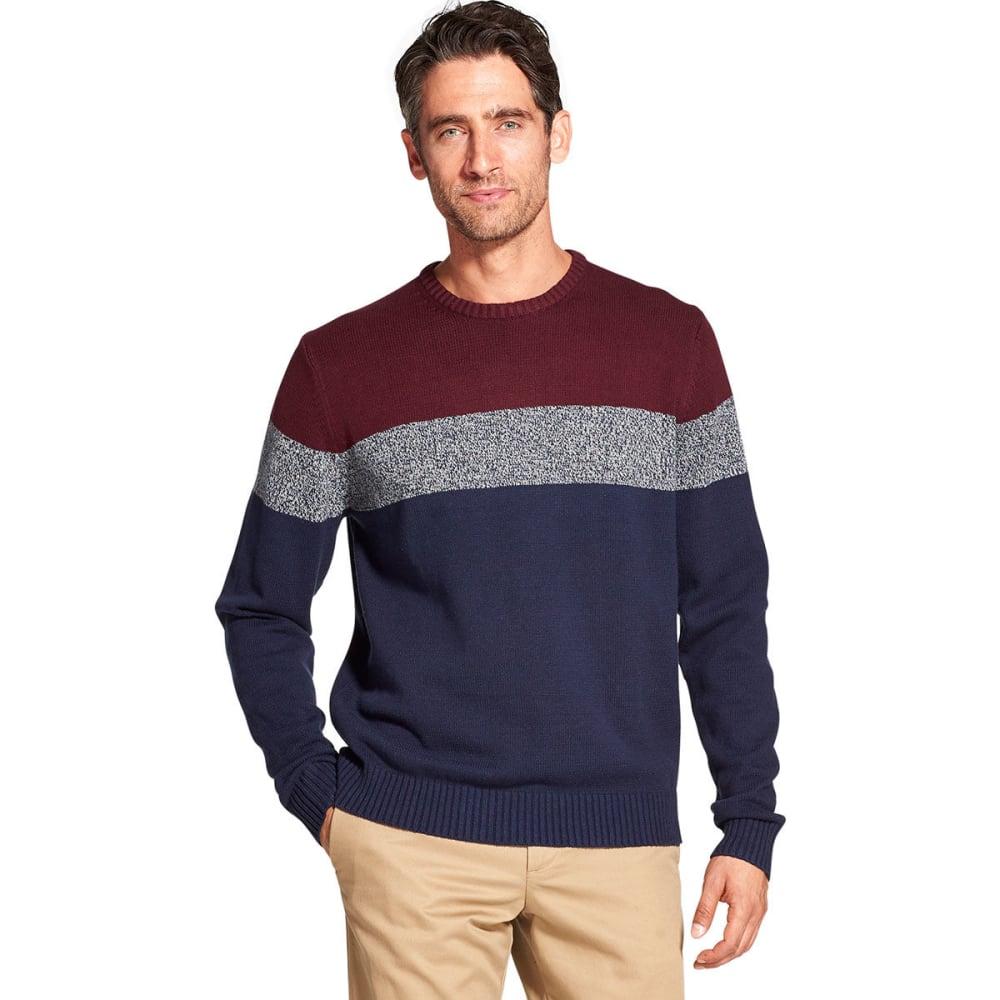 IZOD Men's Newport Color-Block Crewneck Sweater - PEACOAT -#403