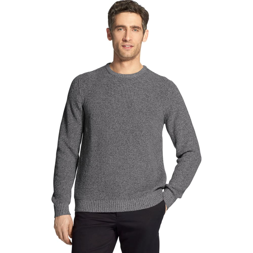 IZOD Men's Newport Solid Crewneck Sweater - CARBON HTR -#011