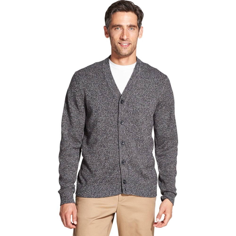 IZOD Men's Premium Essentials Cardigan - CARBON HTE -#011