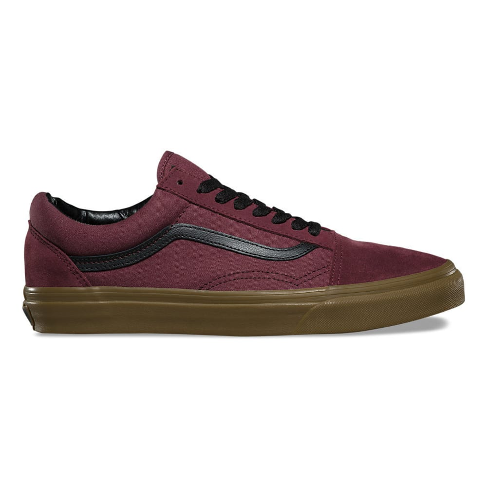 VANS Men's Old Skool Gum Outsole Skate Shoes - CATAWABA GRAPE/BLACK