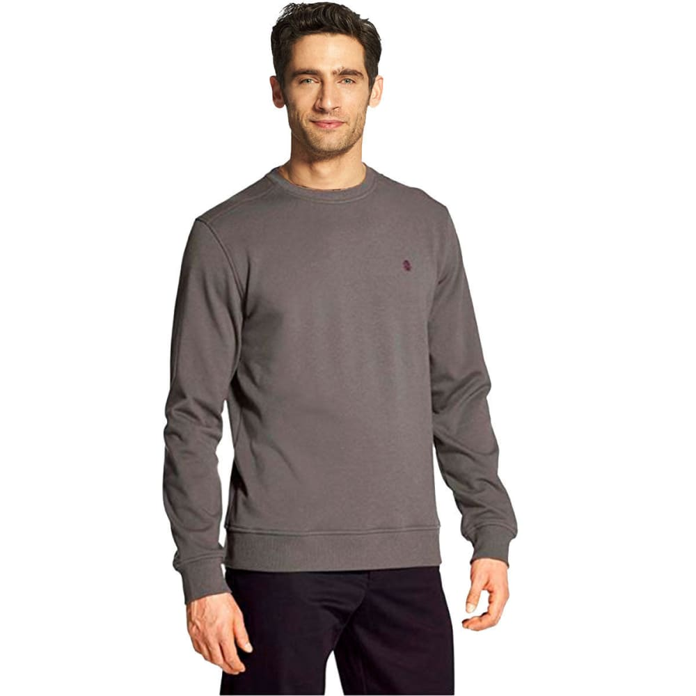 IZOD Men's Advantage Performance Stretch Solid Crew Fleece Pullover - CHARCOAL GREY -#005