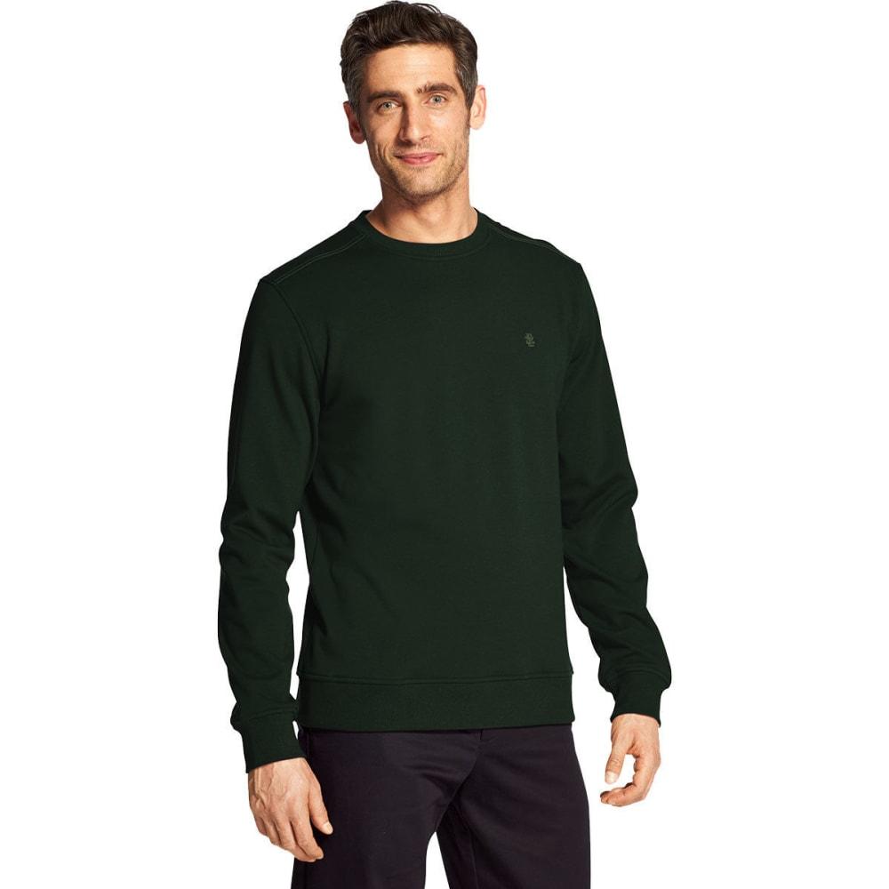 IZOD Men's Advantage Performance Stretch Solid Crew Fleece Pullover - BOTANICALGARDEN-#320