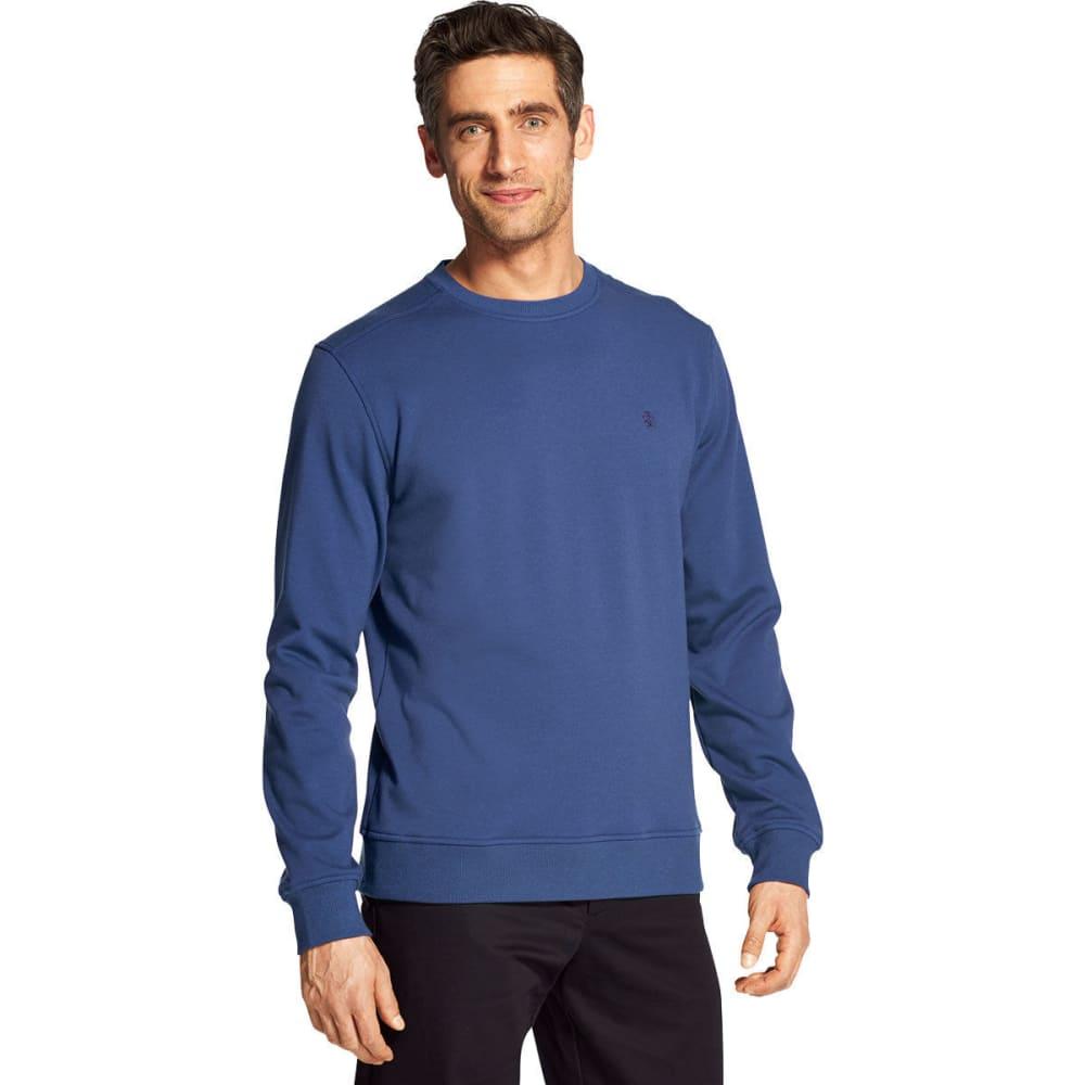 IZOD Men's Advantage Performance Stretch Solid Crew Fleece Pullover - BRIGHT COBALT -#492