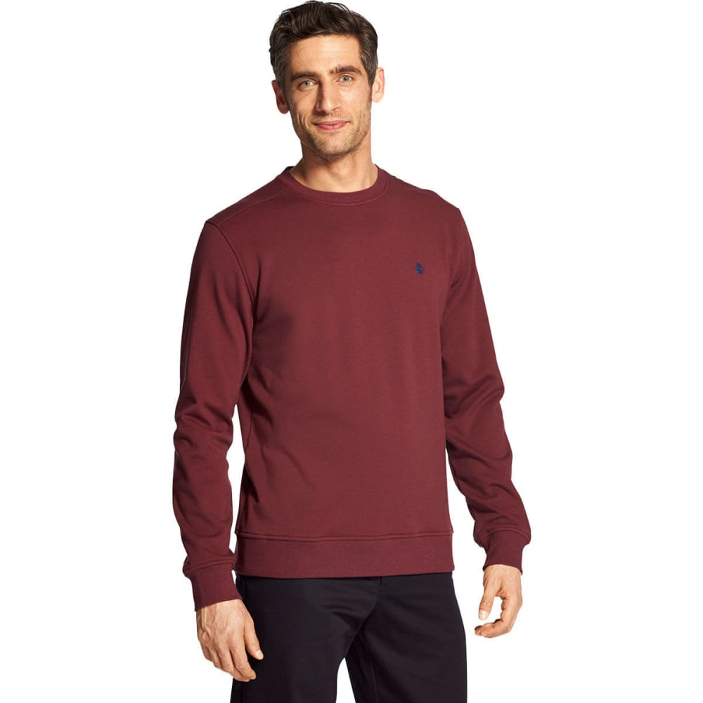 IZOD Men's Advantage Performance Stretch Solid Crew Fleece Pullover - FIG -#505