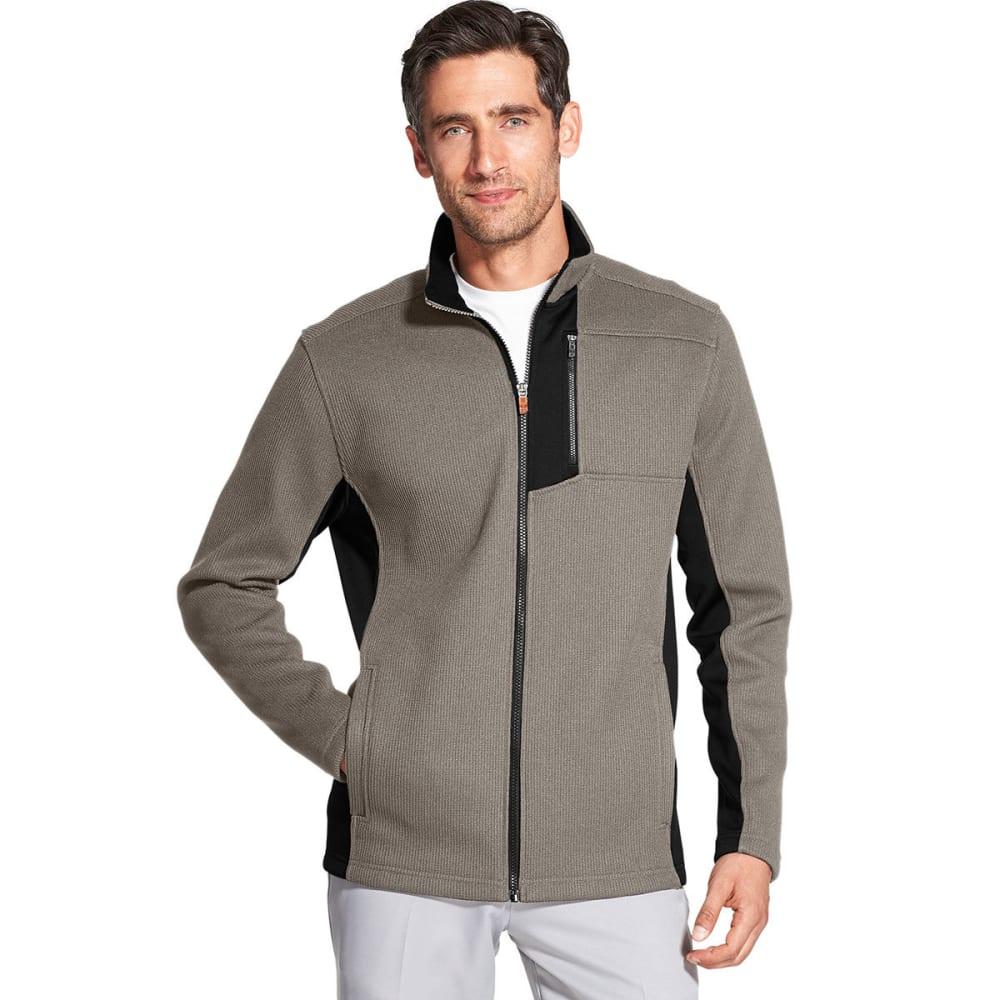 Izod Men's Advantage Performance Shaker Fleece Jacket - Brown, XXL