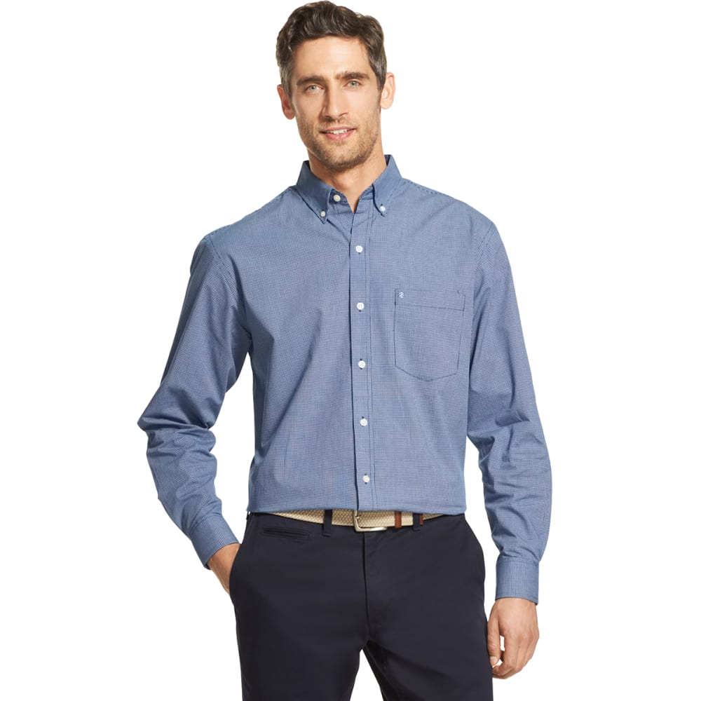 IZOD Men's Essential Woven Long-Sleeve Shirt - ESTATE BLUE