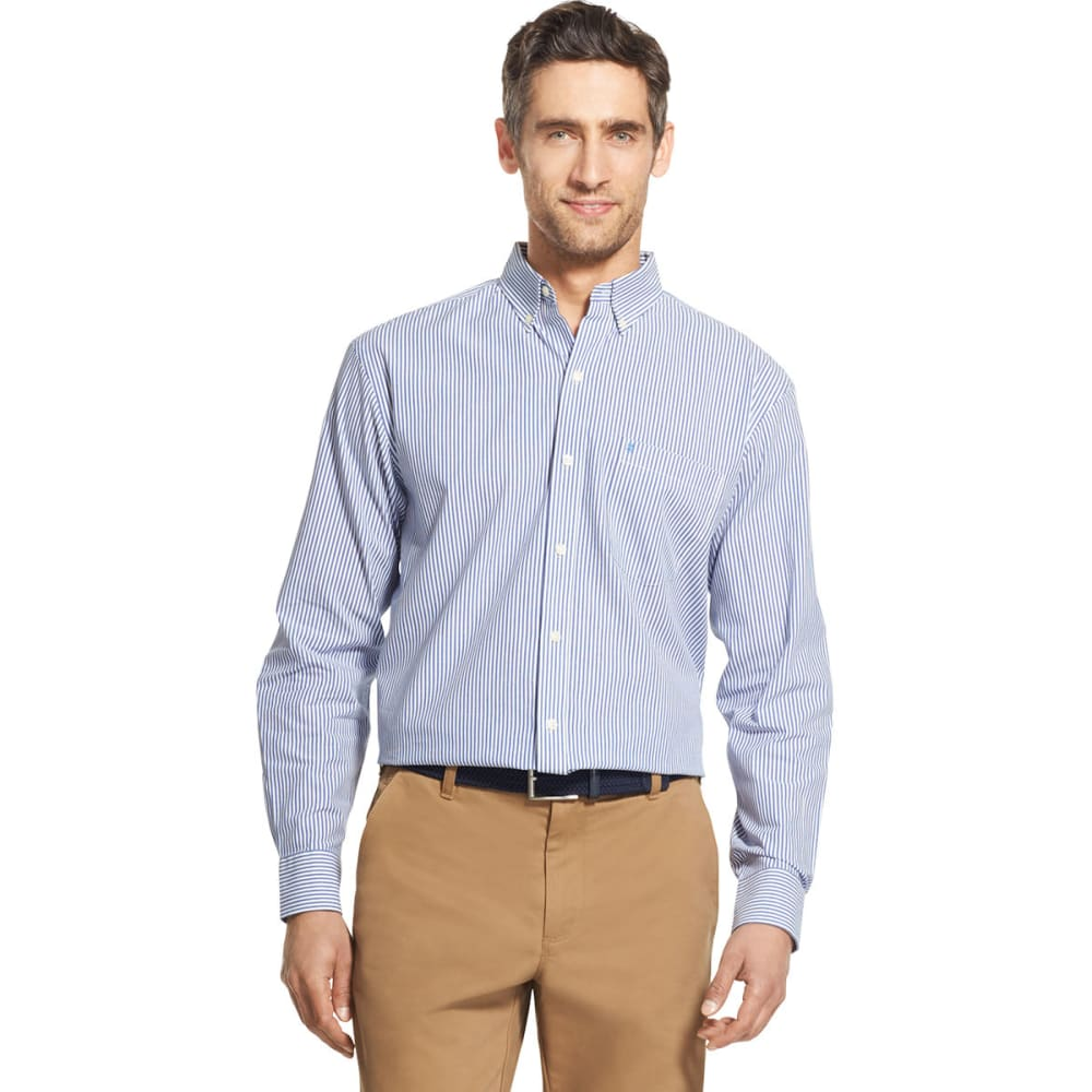 IZOD Men's Essential Woven Long-Sleeve Shirt - MAZARINE BLUE-494
