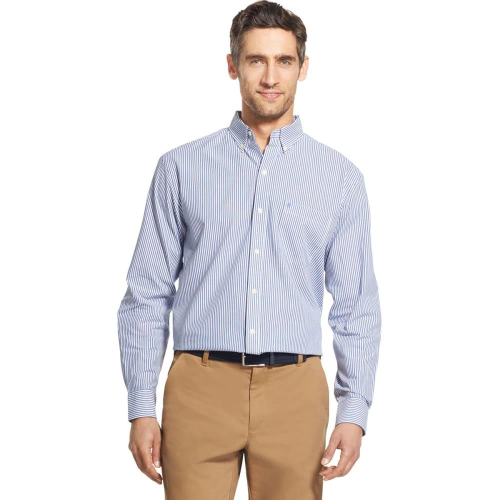 Izod Men's Essential Woven Long-Sleeve Shirt - Blue, M