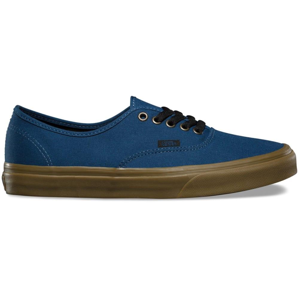 VANS Men's Gum Authentic Skate Shoes - DARK DENIM/BLACK