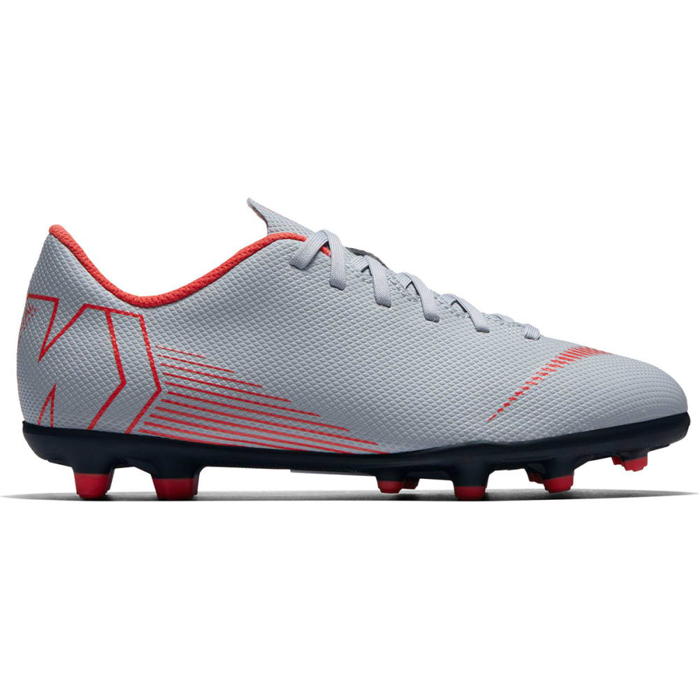 NIKE Kids' Mercurial Vapor XII Club MG Soccer Cleats - WOLF GREY-060