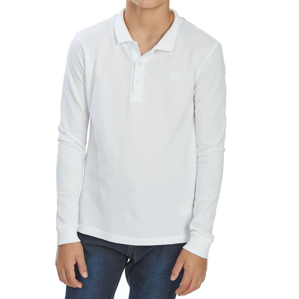 Minoti Big Boys' Long-Sleeve Polo Shirt - White, 8-9