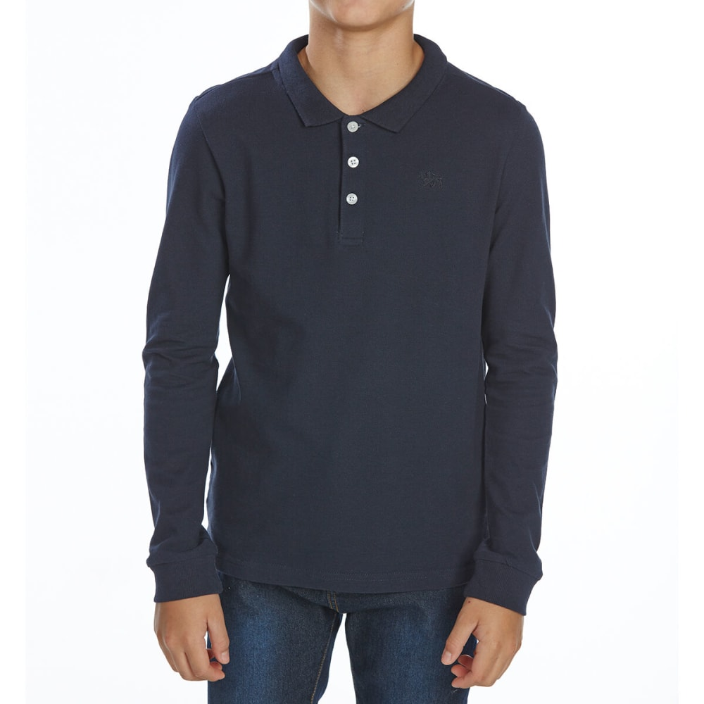 MINOTI Big Boys' Long-Sleeve Polo Shirt 8-9
