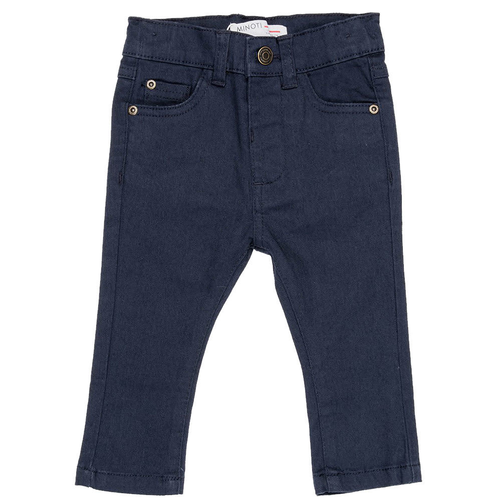 MINOTI Little Boys' Twill Pants - BTWILL6-NAVY