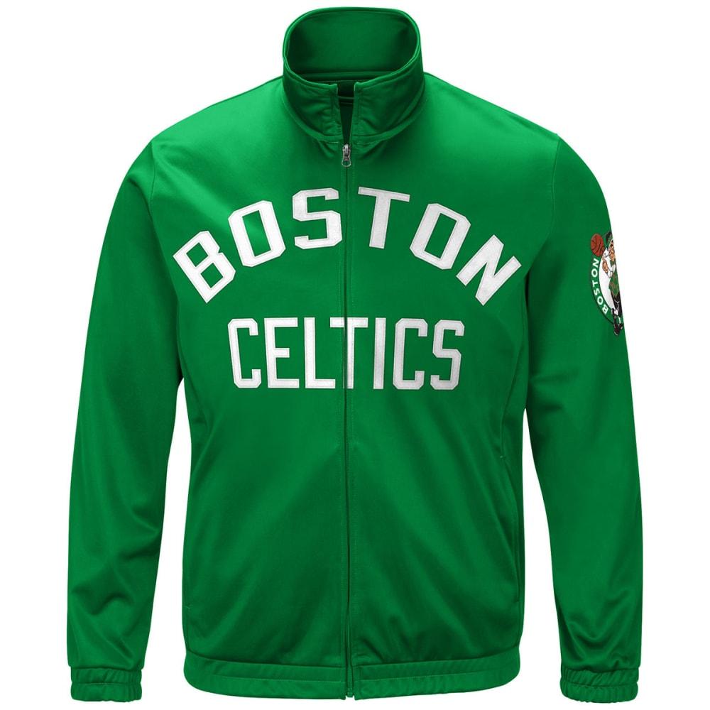BOSTON CELTICS Men's Pregame Jacket - GREEN-CEL