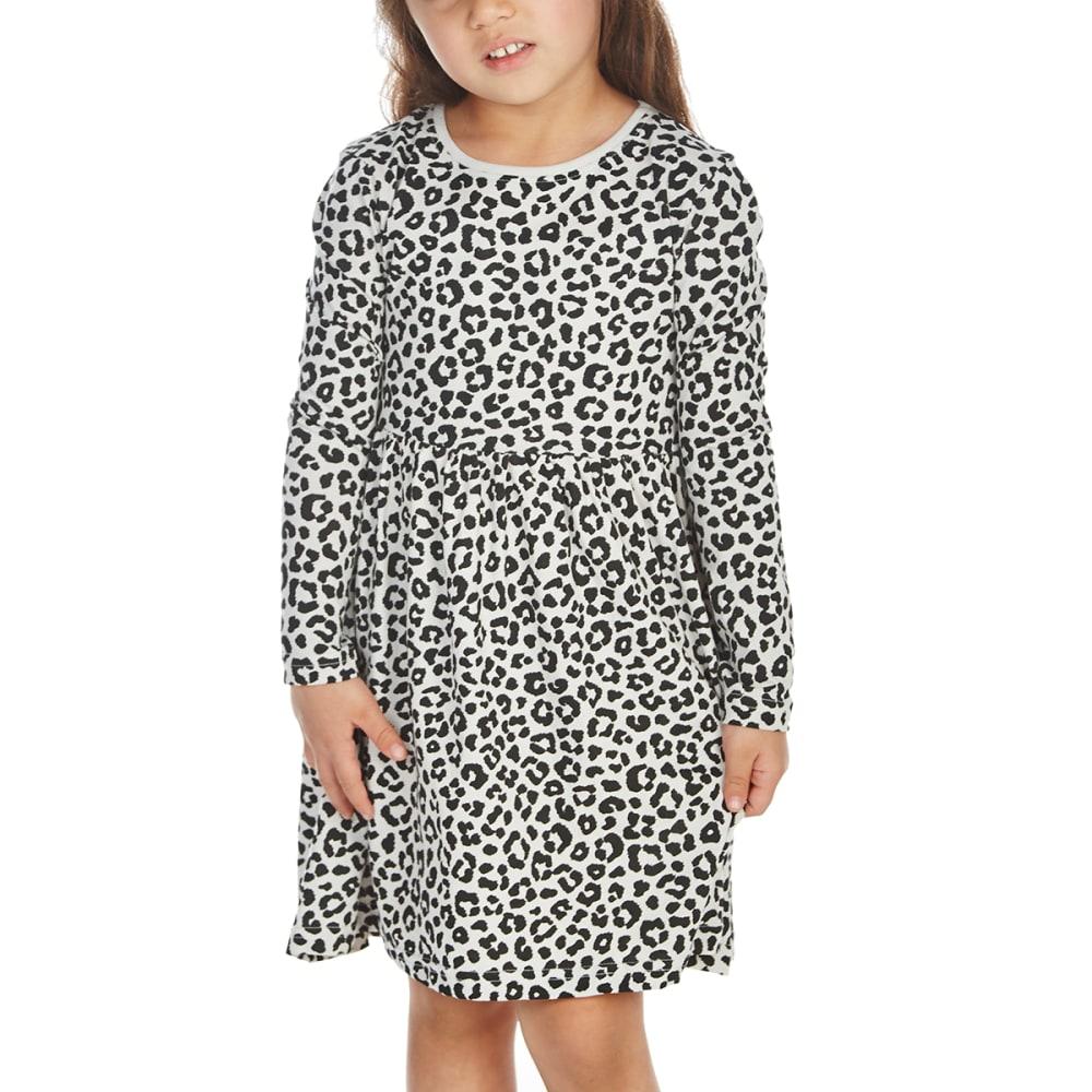 Minoti Little Girls' Long-Sleeve Dress - Black, 3-4