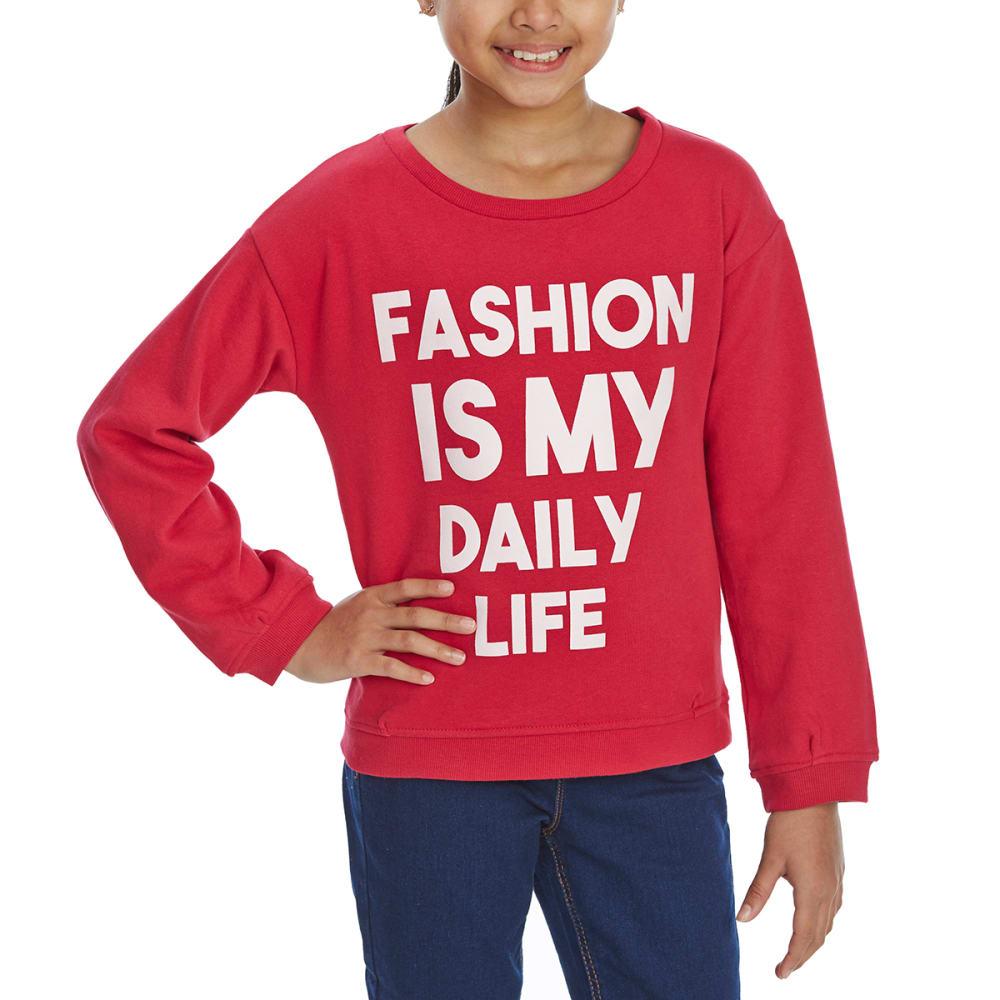 MINOTI Big Girls' Crew Sweatshirt - GCREW6 - RASPBERRY