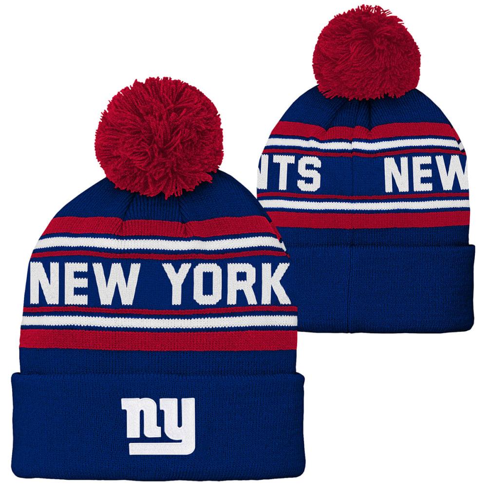 NEW YORK GIANTS Big Kids' Cuffed Pom Knit Beanie - GIANTS