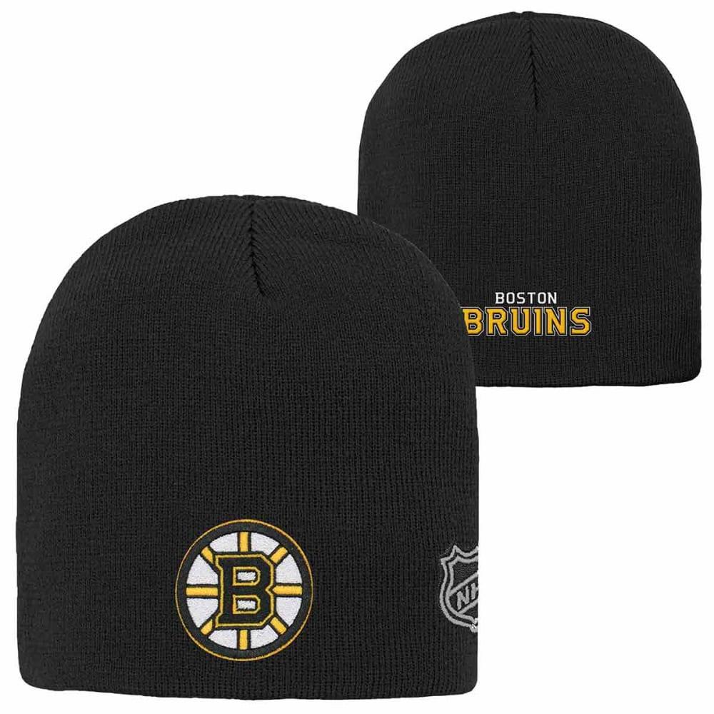 BOSTON BRUINS Big Kids' Basic Knit Beanie - BLACK-BRUINS