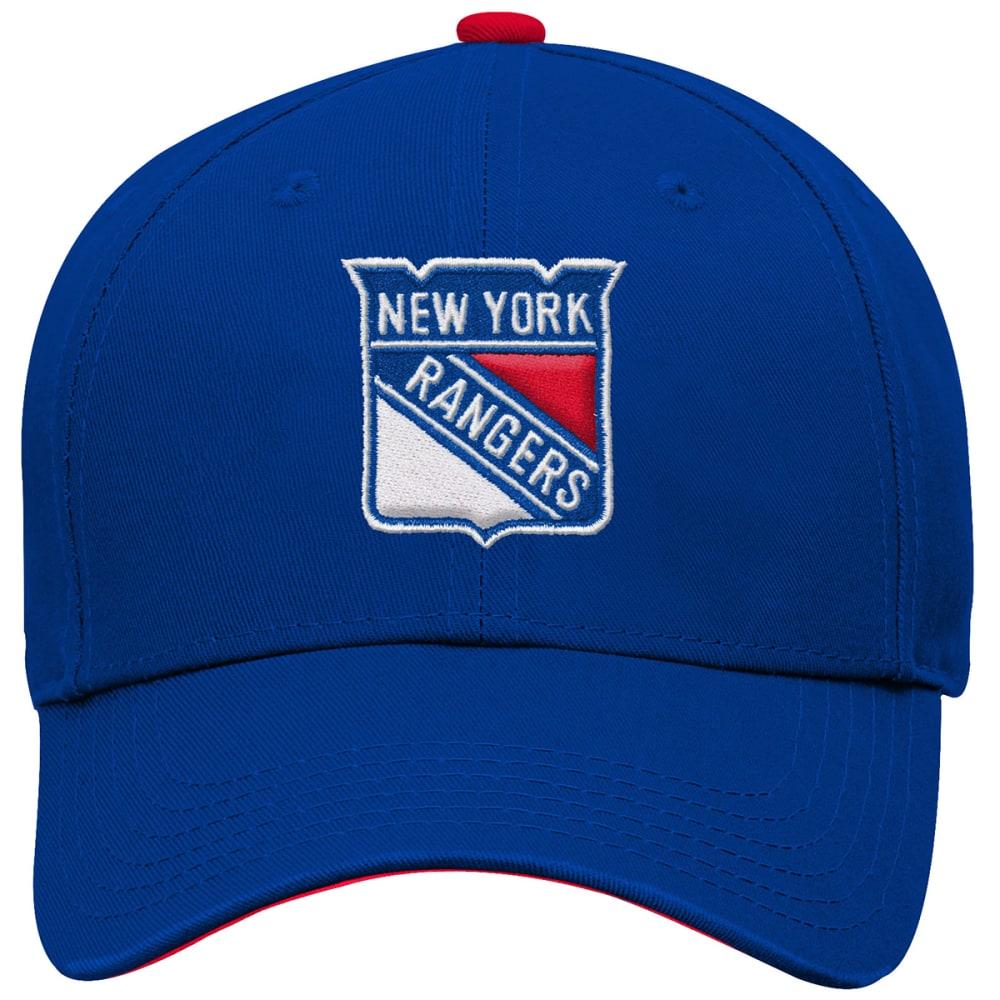 NEW YORK RANGERS Boys' Structured Adjustable Hat - ROYAL BLUE-RANGERS