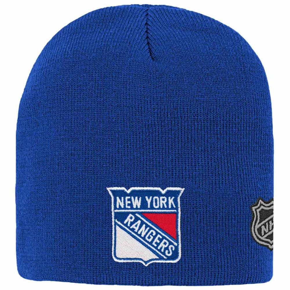 NEW YORK RANGERS Big Kids' Basic Knit Beanie - ROYAL BLUE