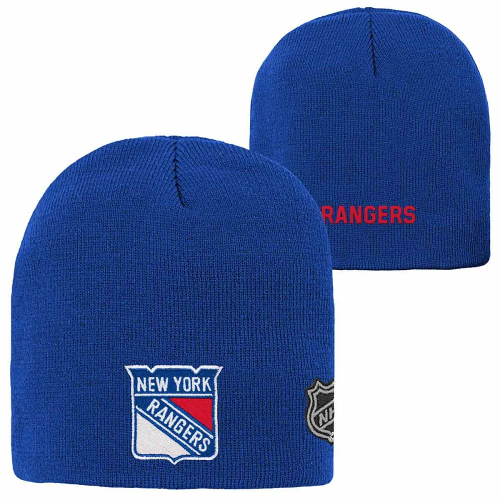NEW YORK RANGERS Big Kids' Basic Knit Beanie - ROYAL BLUE