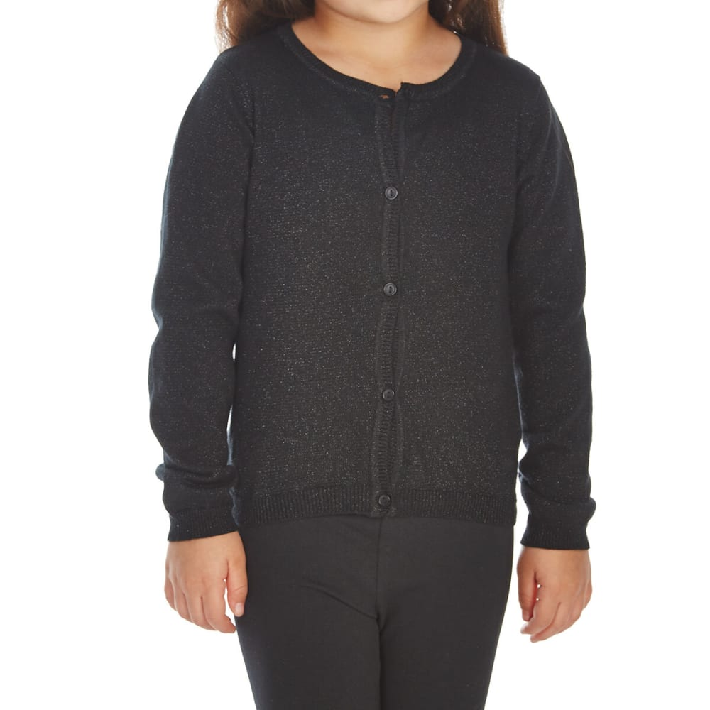 MINOTI Little Girls' Cardigan - GCARDI9-BLACKLUREX