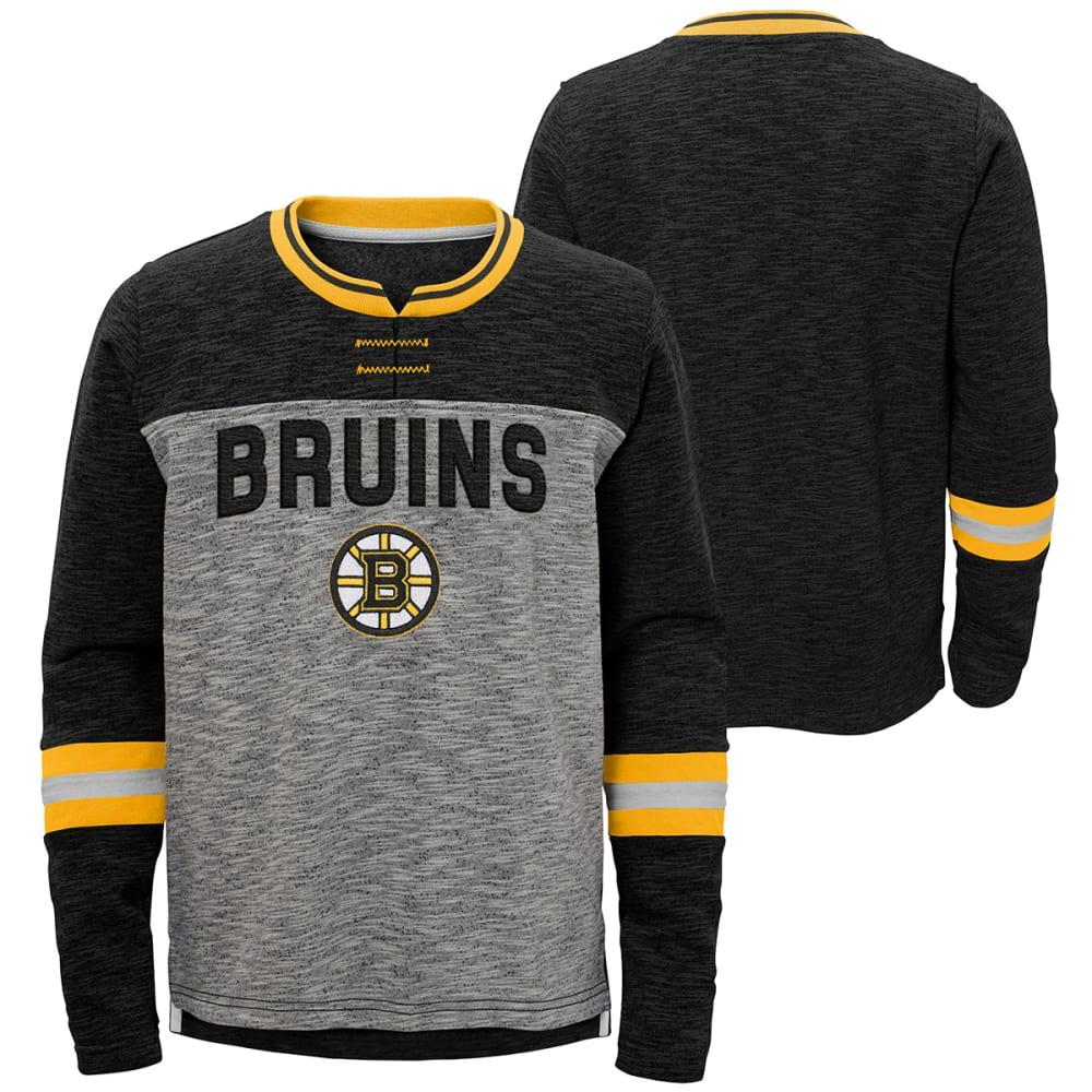 BOSTON BRUINS Big Boys' Future Classic Long-Sleeve Tee - BLACK