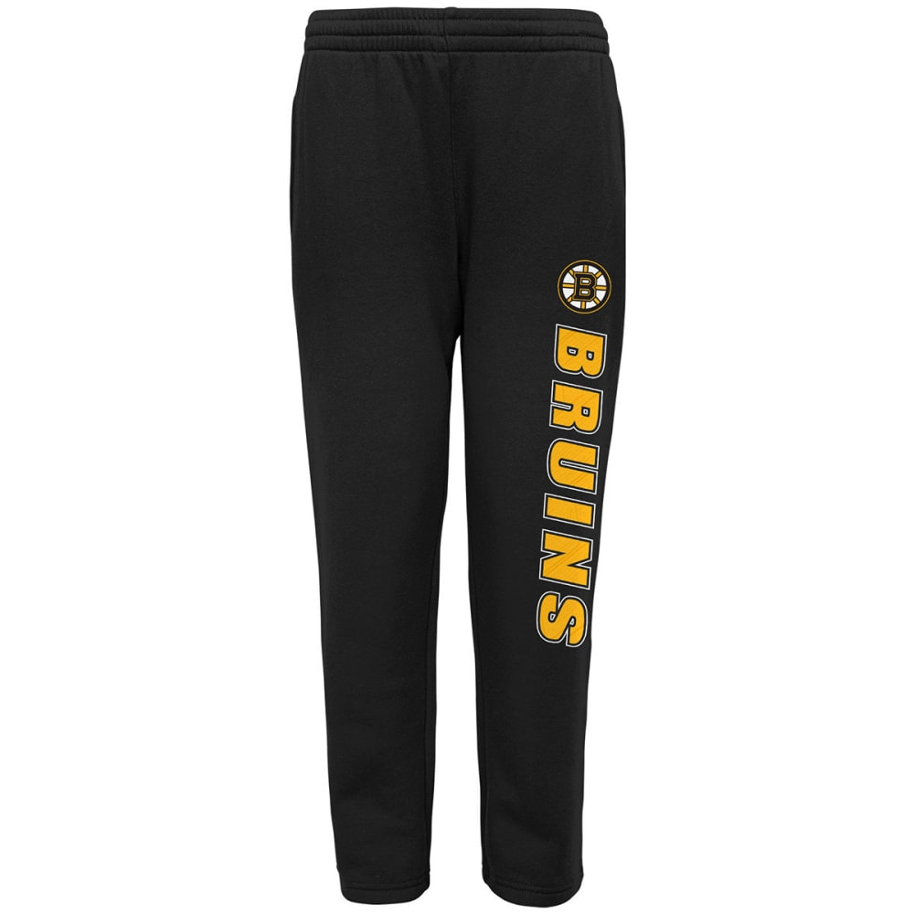 BOSTON BRUINS Big Boys' Post Game Fleece Pants - BLACK