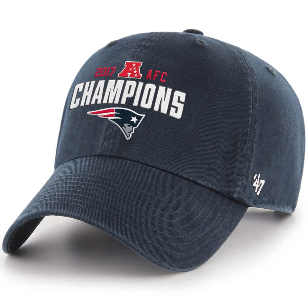 NEW ENGLAND PATRIOTS NFL 2017 AFC Conference Champions '47 Adjustable Hat - NAVY