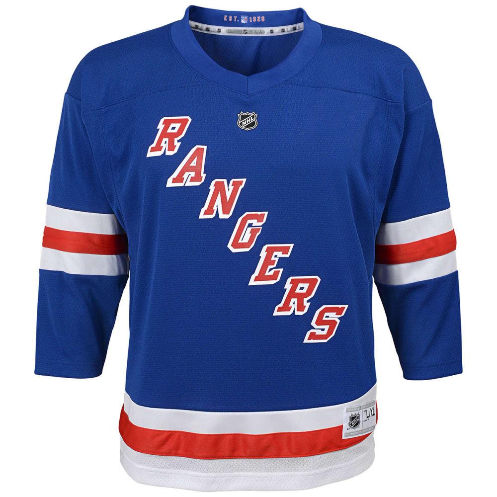 NEW YORK RANGERS Big Boys' Replica Long-Sleeve Jersey - ROYAL BLUE
