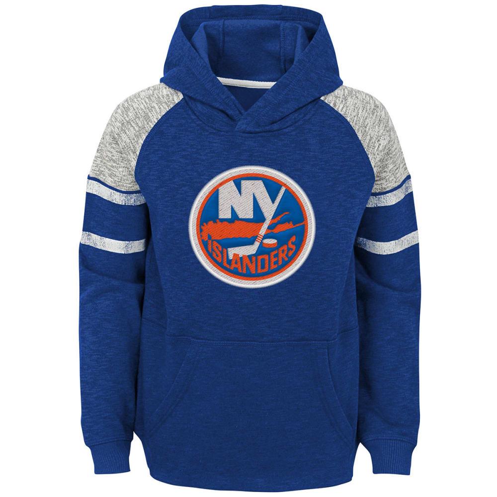 NEW YORK ISLANDERS Big Boys' Left Winger Raglan Pullover Hoodie - ROYAL BLUE