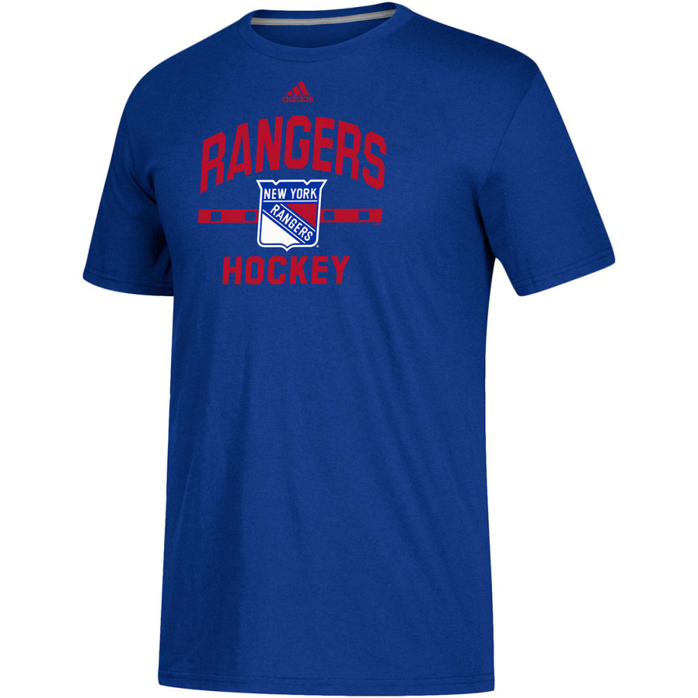 ADIDAS Men's New York Rangers Hockey Go To Performance Short-Sleeve Tee - ROYAL BLUE