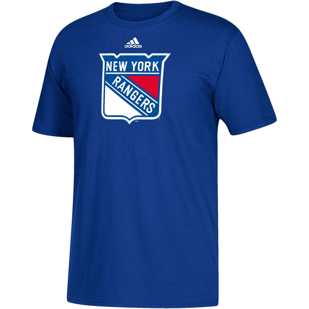 ADIDAS Men's New York Rangers Go To Short-Sleeve Tee - ROYAL BLUE