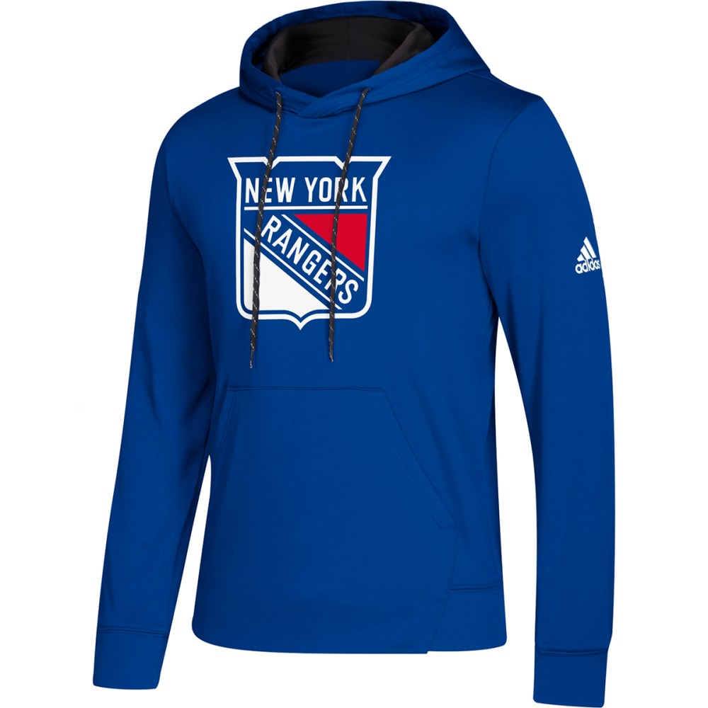 ADIDAS Men's New York Rangers Pullover Hoodie - ROYAL BLUE
