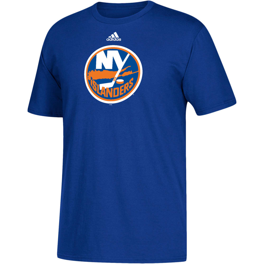 ADIDAS Men's New York Islanders Go To Short-Sleeve Tee - ROYAL BLUE