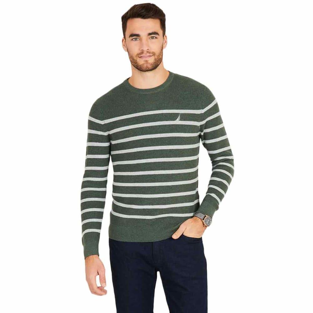 NAUTICA Men's Navtech Breton Stripe Crewneck Sweater L