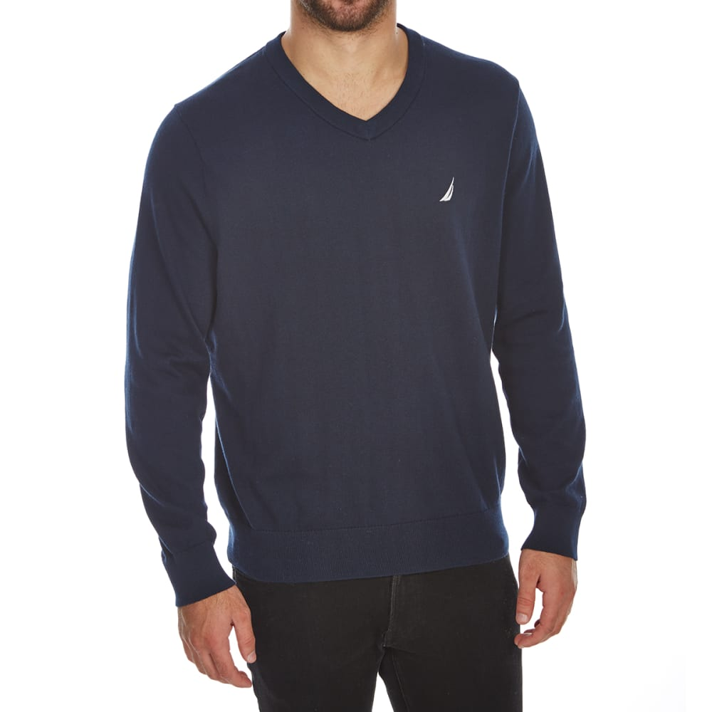 NAUTICA Men's V-Neck Long-Sleeve Sweater - 4NV - NAVY