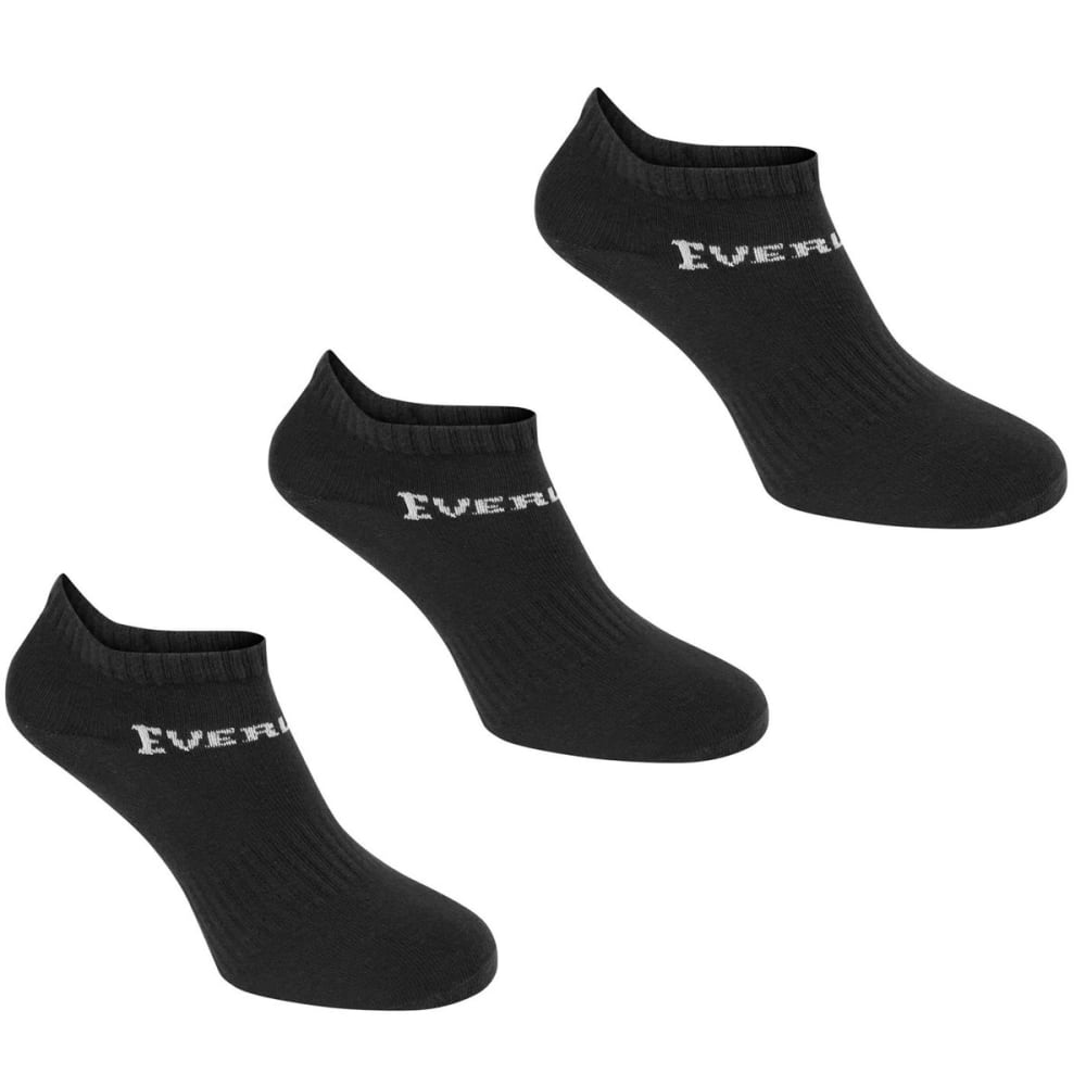 Everlast Women's Training Socks, 3-Pack - Black, 6-10