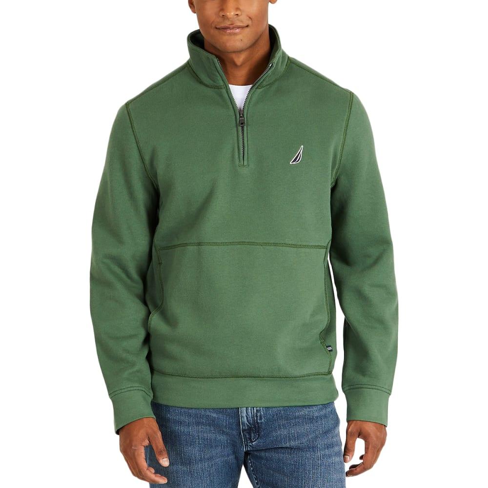 NAUTICA Men's ¼-Zip Fleece Pullover - 3FJ - PINEFOREST