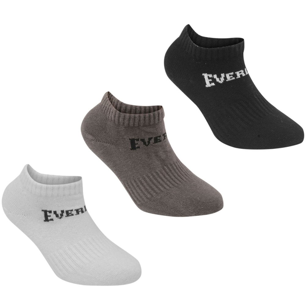 EVERLAST Big Boys' Quarter Socks, 3-Pack 2Y-7Y