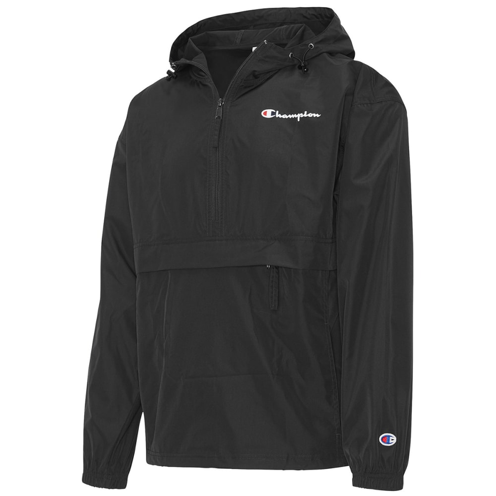 CHAMPION Men's Packable Half-Zip Jacket - BLACK-003