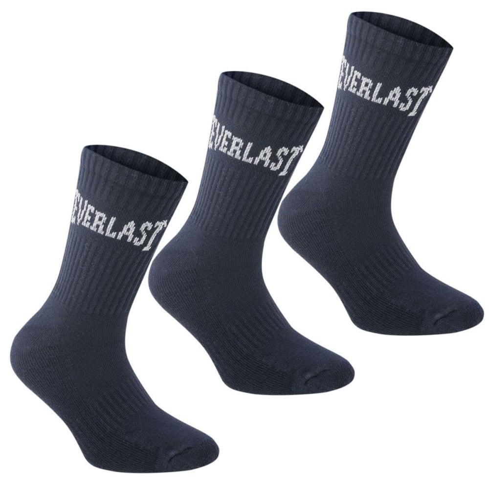 EVERLAST Big Boys' Crew Socks, 3-Pack 2Y-7Y