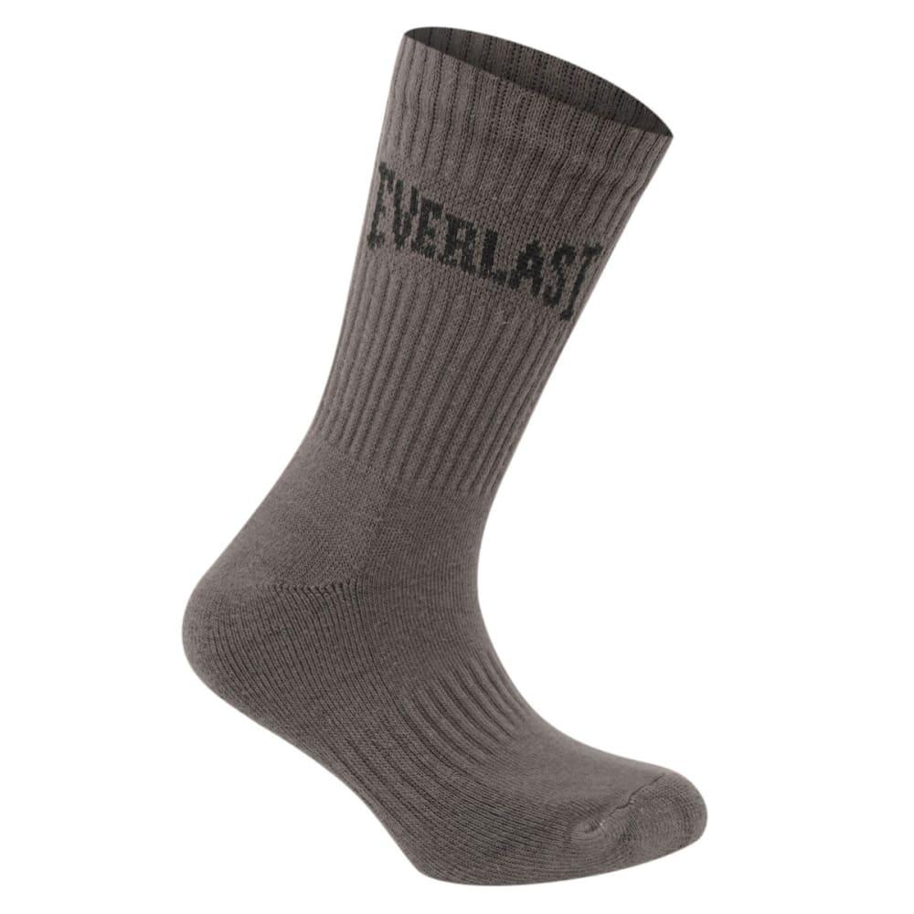 EVERLAST Women's Crew Socks, 3-Pack - BLK/GRY/WHT