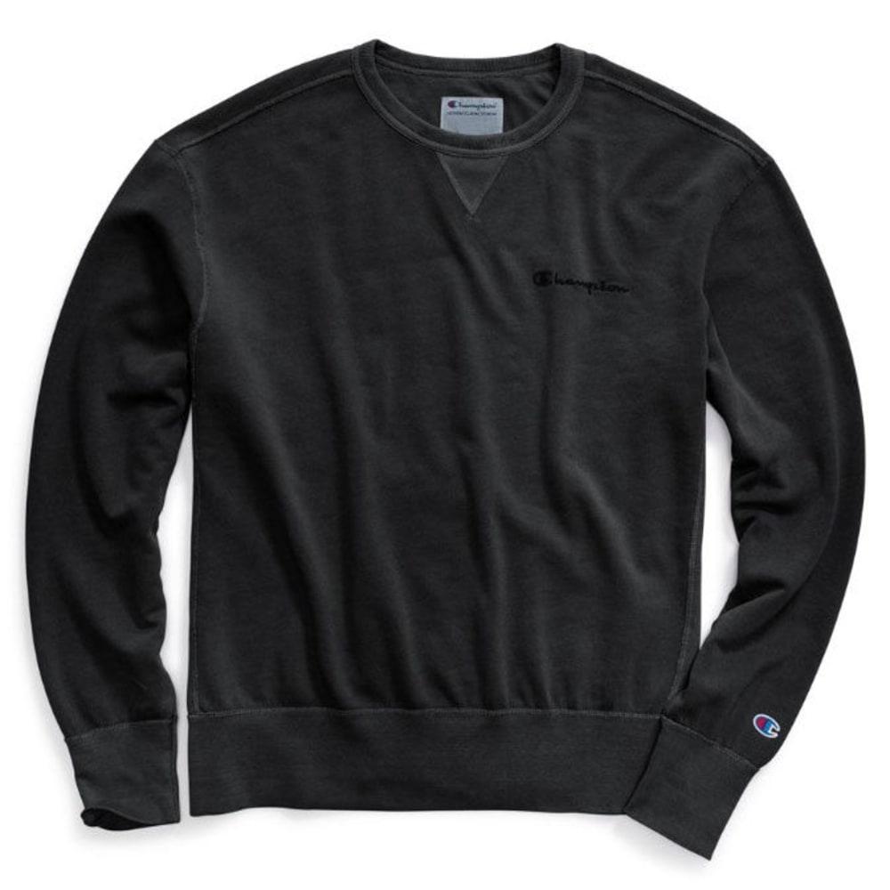 CHAMPION Men's Vintage Dye Fleece Crewneck Pullover - BLACK-003