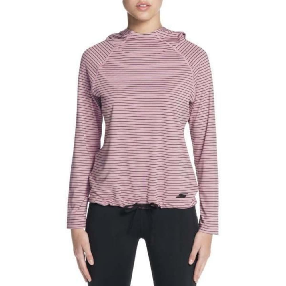 SKECHERS Women's Chakra Stripe Long-Sleeve Pullover Top - LIGHT PINK-LTPK