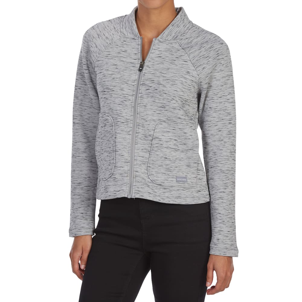 SKECHERS Women's Power Hour Bomber Jacket - LIGHT GREY-LTGY