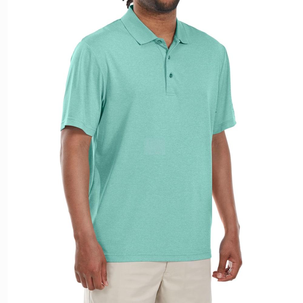 Pga Tour Men's Heather Stretch Short-Sleeve Polo Shirt - Green, L