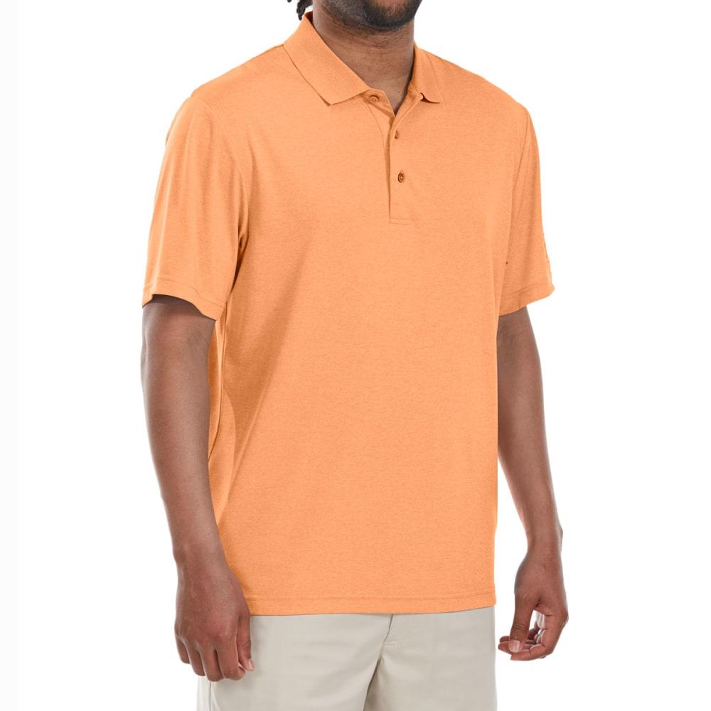 Pga Tour Men's Heather Stretch Short-Sleeve Polo Shirt - Orange, M