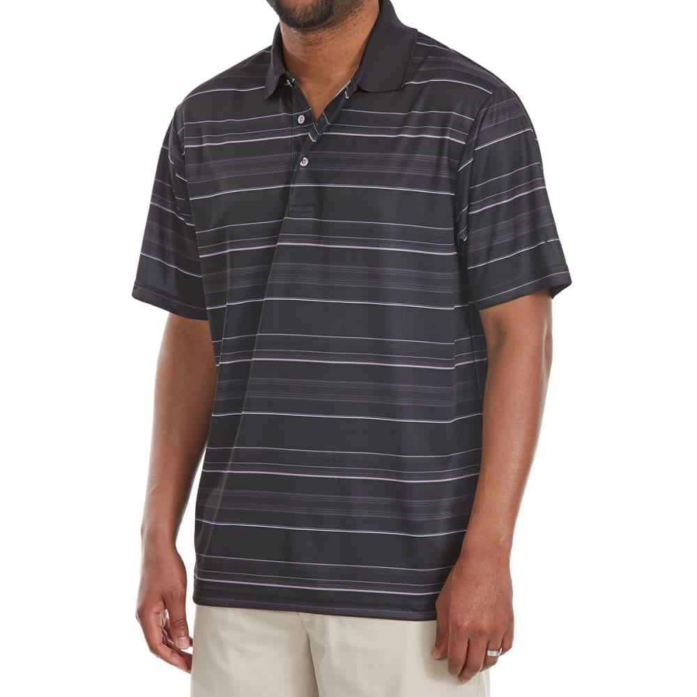 PGA TOUR Men's Airflux Energy Stripe Short-Sleeve Polo Shirt - CAVIAR-002